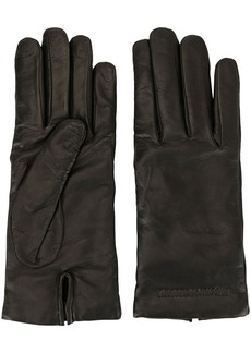 Armani classic smooth gloves