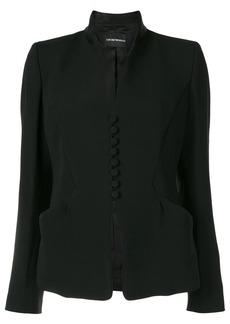 Armani collarless buttoned blazer