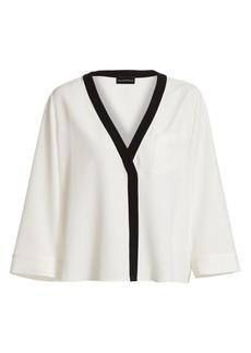 Armani Colorblocked Kimono Blouse