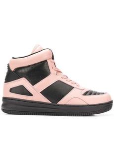 Armani colour block hi-top sneakers