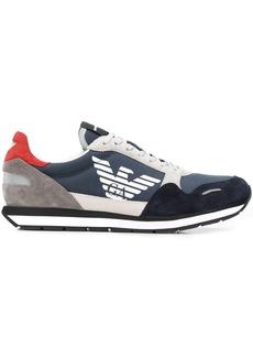 Armani colour block low-top sneakers