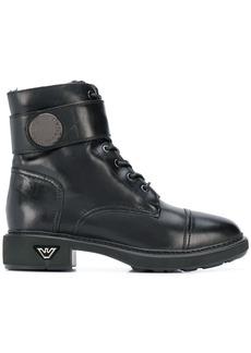 Armani combat boots