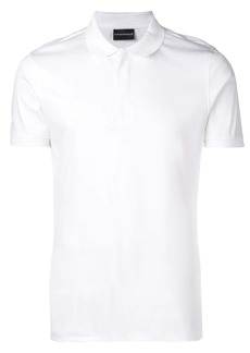 Armani concealed front polo shirt