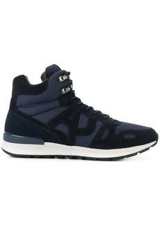 Armani contrast hi-top sneakers