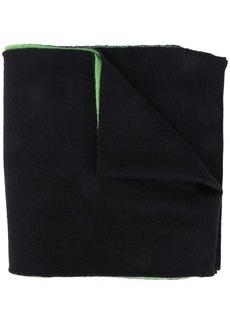 Armani contrast-logo knit scarf