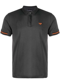 Armani contrast logo polo shirt