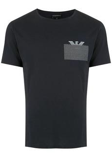 Armani contrast logo print T-shirt
