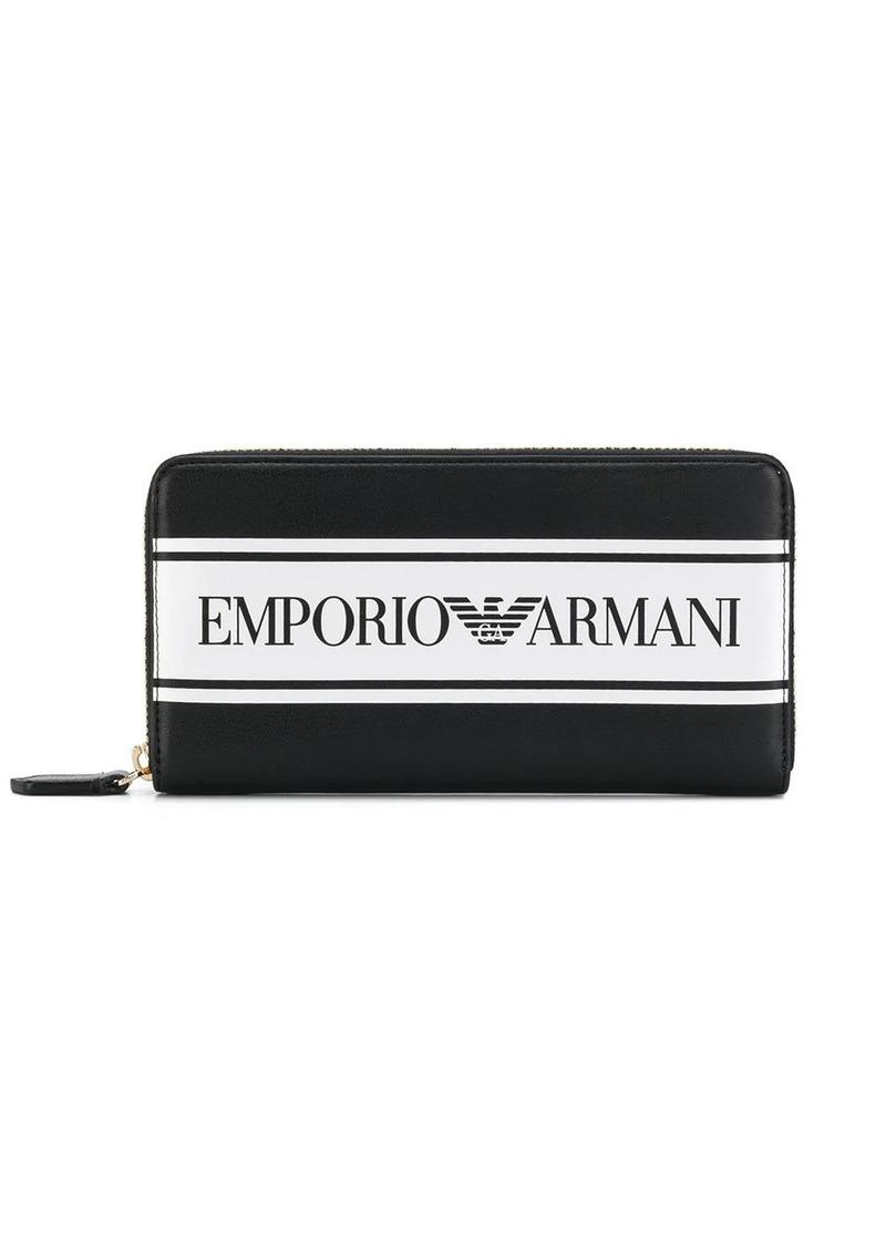 Armani contrast logo wallet