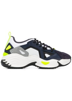 Armani contrast panel ridged heel sneakers