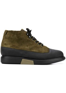 Armani contrast panels boots