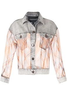 Armani contrast sheer denim jacket
