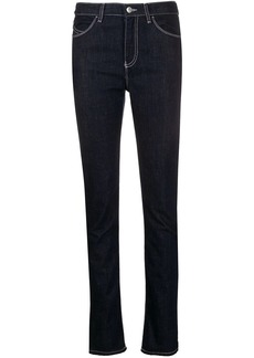 Armani contrast-stitch skinny jeans