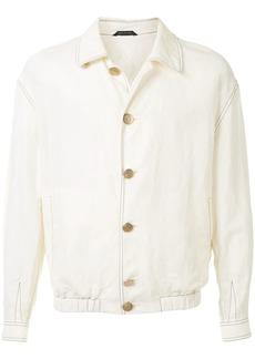 Armani contrast stitched jacket