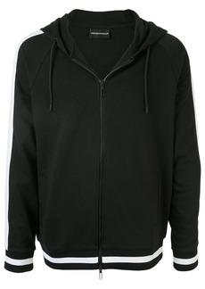 Armani contrast stripe hoodie