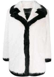 Armani contrast trim coat