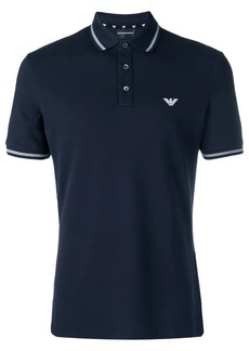 Armani contrast trim polo shirt