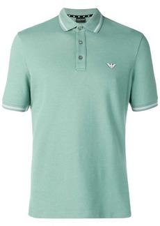 Armani contrast trim polo shirt