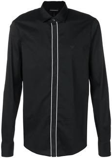 Armani contrast trim shirt