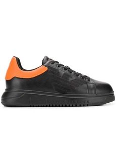 Armani contrasting heel sneakers