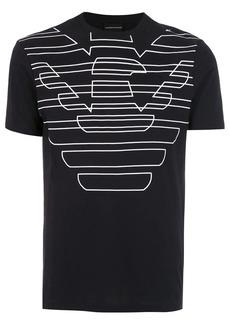 Armani contrasting oversized logo T-shirt