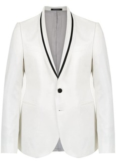Armani contrasting piping detailed blazer