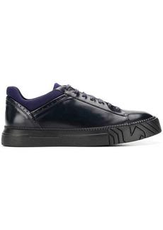 Armani contrasting trim sneakers