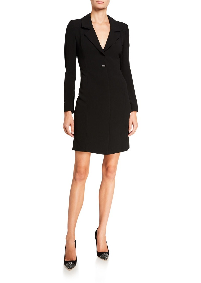 Armani Crepe Cady Flare-Sleeve Blazer Dress