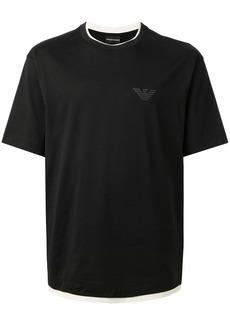 Armani crew neck contrast hem T-shirt