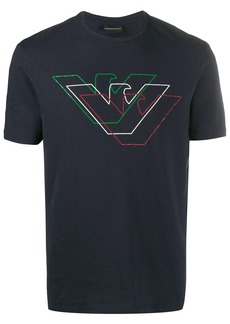 Armani crew neck logo printed T-shirt