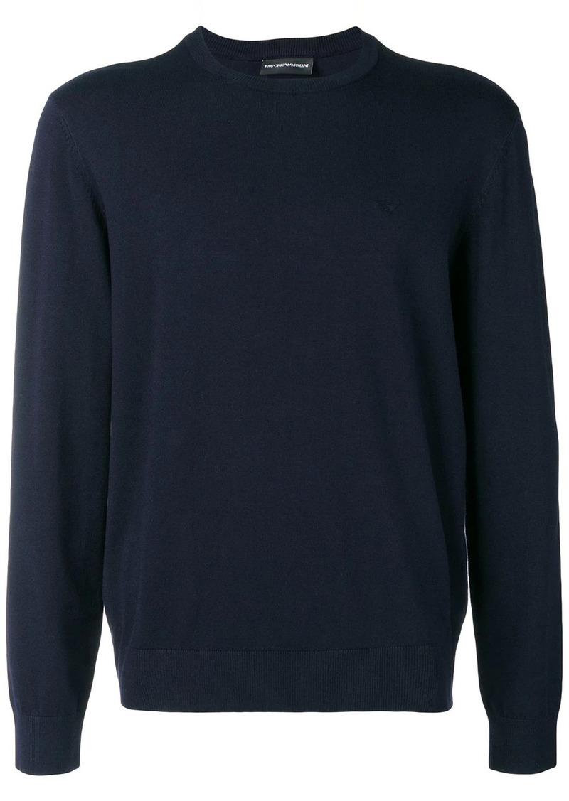 Armani crew neck sweatshirt