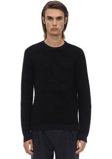 Armani Crewneck Viscose Jacquard 3d Sweater
