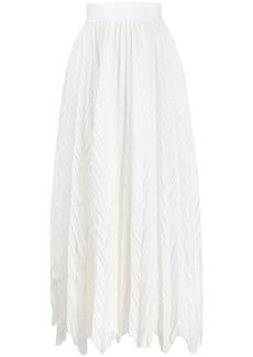 Armani crinkle effect midi skirt