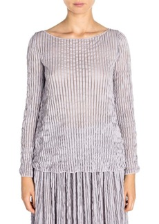 Armani Crinkled Long Sleeve Top