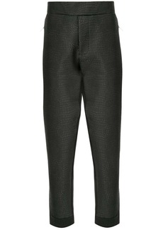 Armani crocodile-effect high-rise trousers