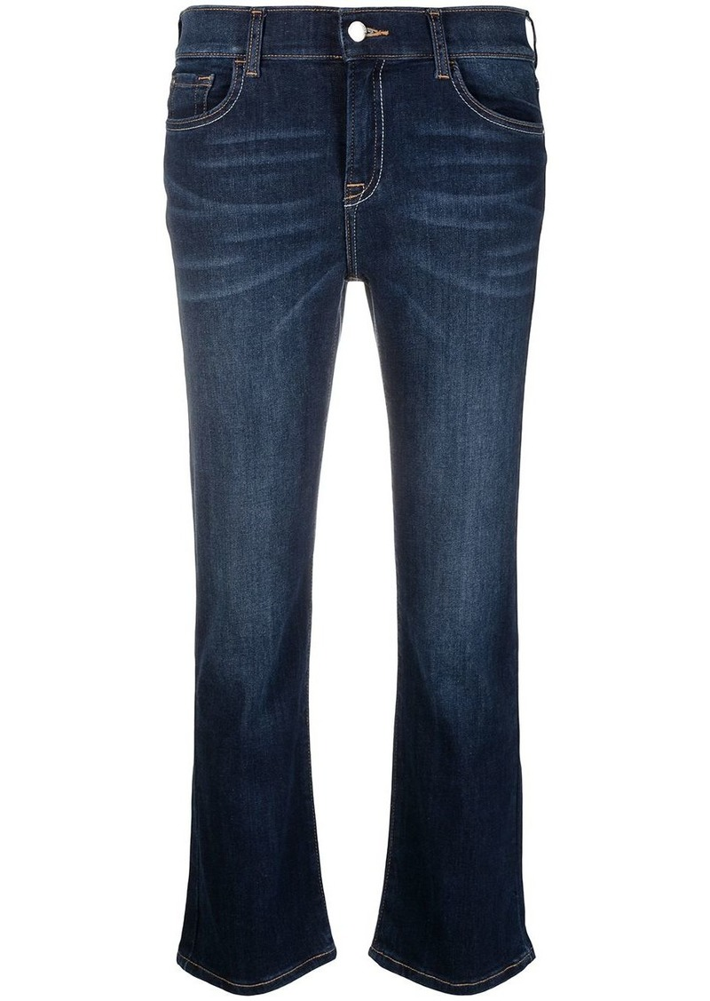 Armani cropped dark wash jeans