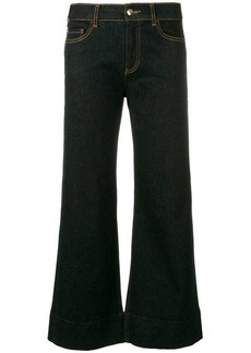 Armani cropped flared jeans
