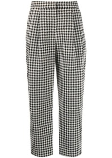 Armani cropped houndstooth pattern trousers