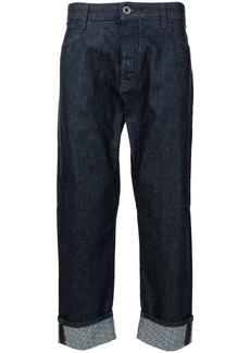 Armani cropped-leg denim jeans