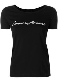 Armani cropped logo T-shirt