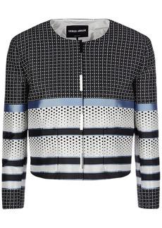 Armani Cropped Patchwork Jacquard Jacket