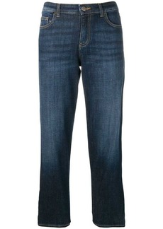 Armani cropped straight leg jeans