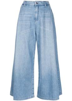 Armani cropped wide leg jeans