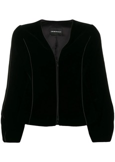 Armani cropped zip-up jacket