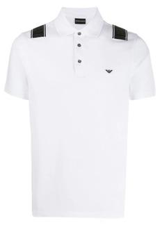 Armani cross logo polo shirt