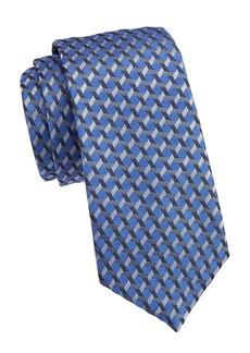 Armani Crossing Stripe Silk Tie