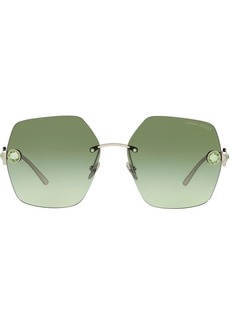 Armani crystal-embellished oversize-frame sunglasses