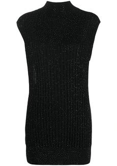 Armani crystal-embellished roll neck jumper