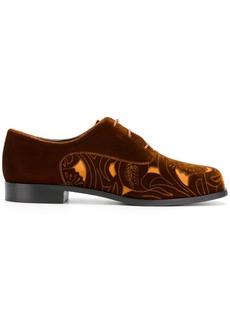 Armani cut-out panel lace-up shoes