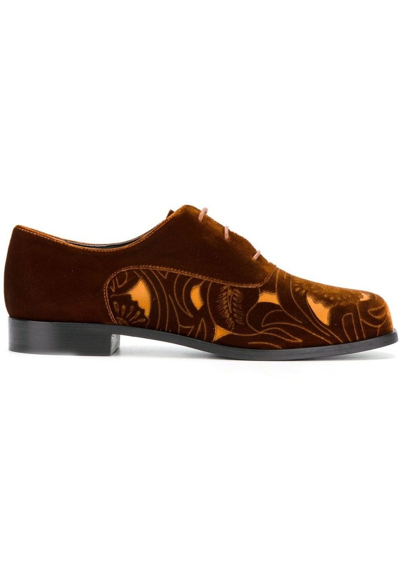 Armani cut-out panel lace-up shoes