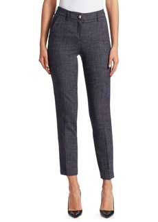 Armani Denim Effect Cropped Pants